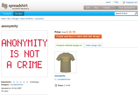 Anonymity is not a crime t-shirt