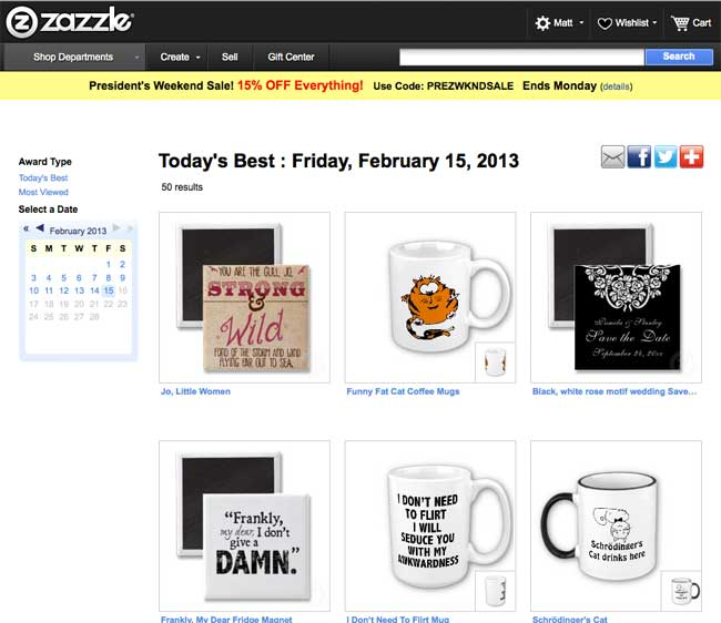 Today's Best on Zazzle